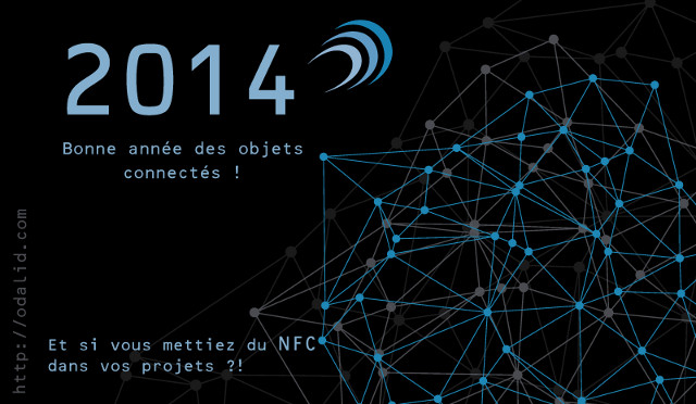 ODALID nfc carte voeux 2014